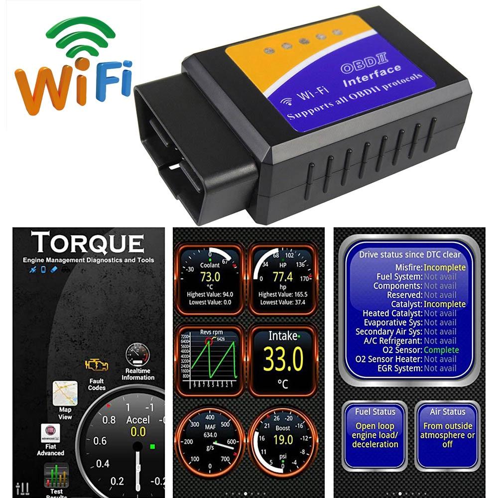 Car Code Readers Scan Diagnostic Tool OBDII 2 ELM327 V1.5 Wifi Scanner For Skoda Buick Lada Kia Forte Cerato RIO Optima Venga