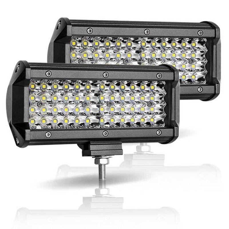 LED Work Light Bar 7 Inch 120W Combo Spot Flood Beam Led Bar 4x4 Off Road Headlight For Car Motorcycle Tractor Boat ATV SUV Lamp