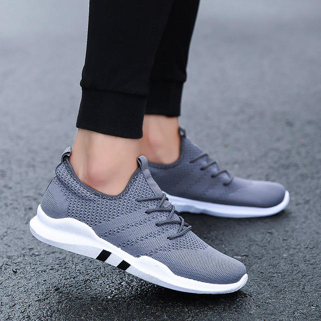 Spring & Summer Fashion Mens Casual Shoes White Lace-Up Breathable Shoes Sneakers basket tennis Mens Trainers Zapatillas Hombre Uncategorized Fashion & Designs Men's Fashion