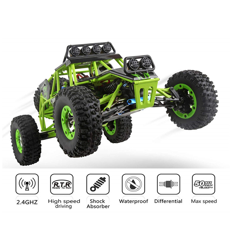 WLtoys 12428 4WD 1/12 Electric Brushed Crawler RTR RC Car Four-wheel Off-road Climbing Car Race Remote Control Car For Kids