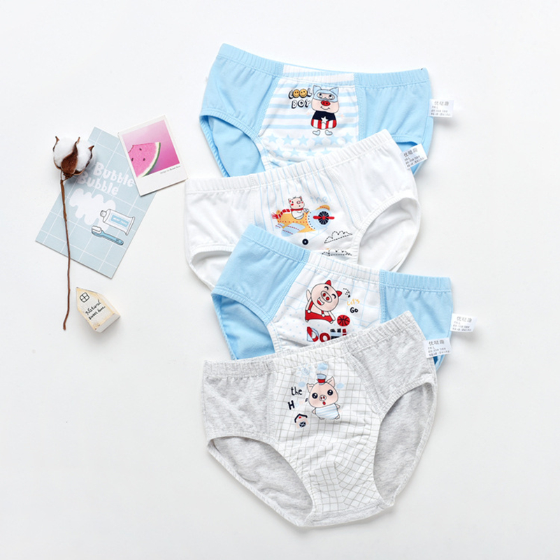Kids Underwear Boys Cotton Panties For Toddler Baby Boy Cartoon Briefs Children  Underpants 1Pcs