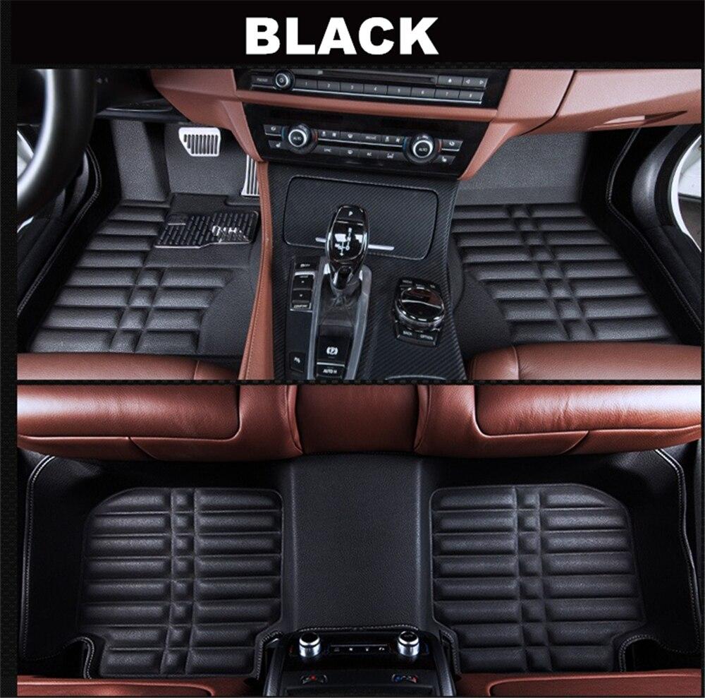 SJ 3D imperméable à l'eau personnalisé tapis de sol de voiture avant et arrière revêtement de sol style Auto tapis pour VOLKSWAGEN VW GOLF 7 2014 2015-2019