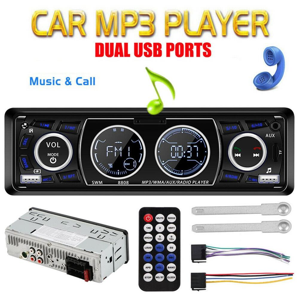 Lcd Display Car Radio Wireless Handsfree Usb / Wma Mp3 Player Remote Control 1Din Car Radio Car Accessories image