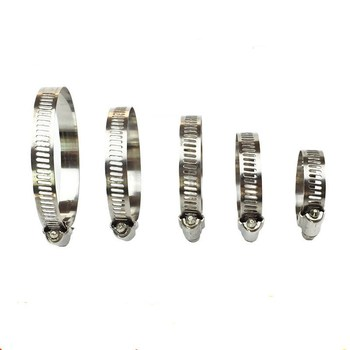 10pcs/lot 8-12mm High Quality Screw Worm Drive Hose C Clamp Clip 304 Stainless Steel Hoop Pipe image