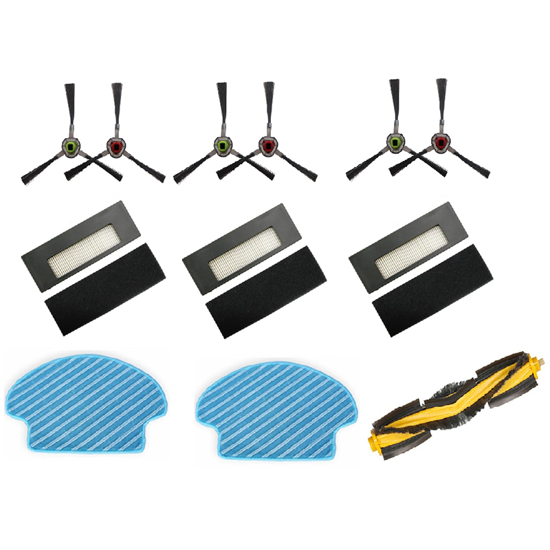Multi-Set Replacement Spare Part Mop Cloth Side Brush HEPA Filter Main Brushes for Ecovacs DEEBOT DE55 DE6G Robot Vacuum Cleaner