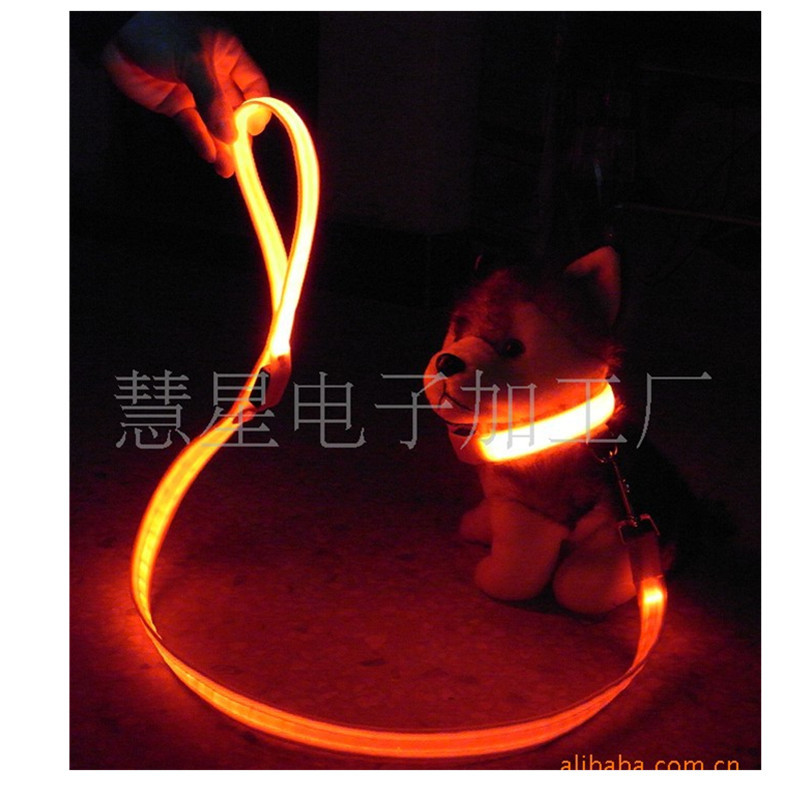 LED Pet Neck Ring Hand Holding Rope Set Wire Screen Dog Neck Ring Gallas With Pet Supplies