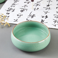 Ceramic-Pen-Holder Cover with Chinese Painting-Ink Ink-Tray Multi-Functional Liupintang