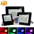RGB Led-strahler AC220V 30W 50W 100W RGB LED Flutlicht mit 24Key IR Remote IP65 Wasserdichte Outdoor landschaft Beleuchtung.