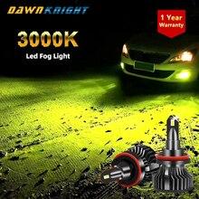 2PCS H7 노랑 3000K 안개등 H3 H8 H11 Hb3 9005 Hb4 9006 H1 램프 4300K 12V 12000LM 터보 Led 전구 헤드 라이트