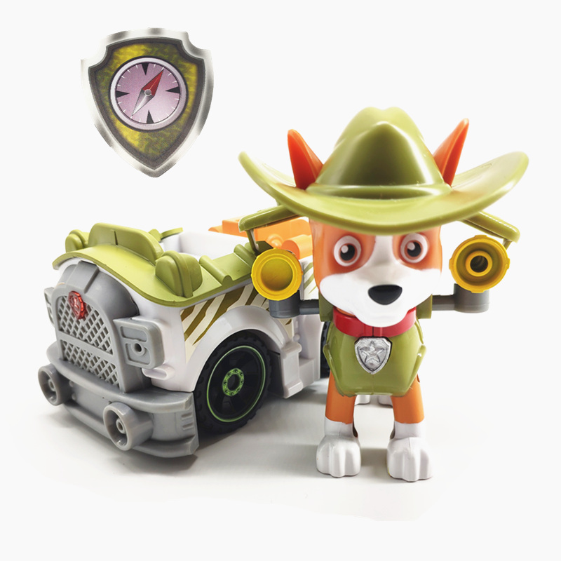 Paw Patrol Deformation Pull Back Music Car PVC Doll Toy Action Character Model Toys Children Holiday Gift Dog Tracker 3p11
