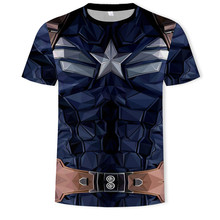 Marvel 4 Endgame Captain America t shirt Summer tshirt 3d print Superhero compression shirt Sweatshirt Fitness clothing(China)