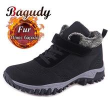 Classic Winter Men Snow Boots Flat Shoes Men Winter Keep Warm Platform