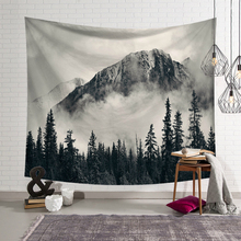 Nordic Fashion Wall Hanging Tapestry Deep Forest Series Print Art Wall Cloth Tapestries Home Background Decor Yoga Mat Blanket forest park print tapestry wall art
