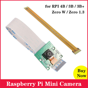 5MP Raspberry Pi  Camera 1080P 720P Mini Video Camera For Raspberry Pi 4 3 Model B 4B 3B Zero W Zero 1.3