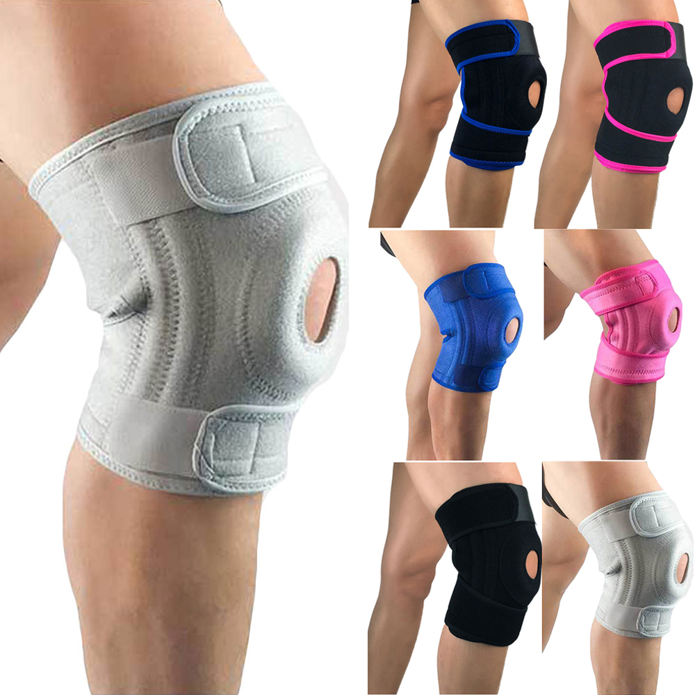 Support Fitness Sports Knee Pads Brace Protections Double Spring Protective Gear