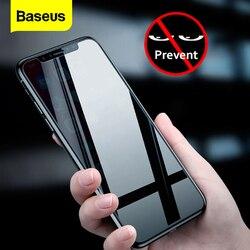 Baseus ochrona prywatności ochraniacz ekranu dla iPhone Xs Max XR X S R Anti peeping folia ochronna na szkło hartowane dla iPhoneXs w Etui do ekranu telefonu od Telefony komórkowe i telekomunikacja na
