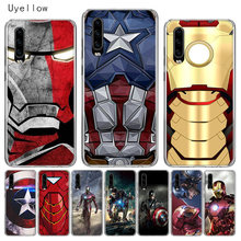 Uyellow Silicone Phone Case For Huawei P10 P20 P30 Lite Pro Hawei Mate 10 20 lite Hawei P Smart Plus 2019 Captain Iron Man Cover(China)