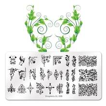 Shopants Topi Nail Art Stamping Gambar Piring 6*12 Cm Stainless Steel Kuku Template Manikur Stensil Alat(China)