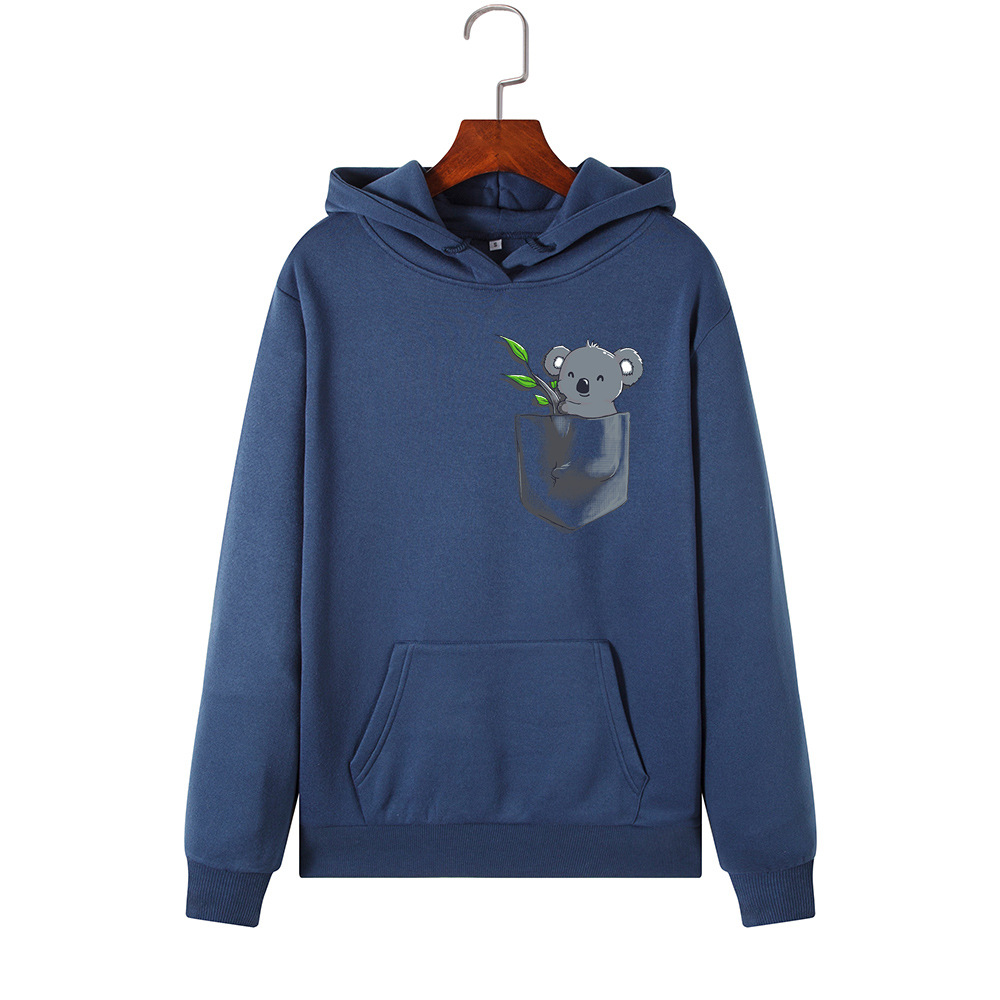 He48c13973dc9474485048acbfb176af9V - Hoodies Women Brand Female Long Sleeve Cute Animal Koala Print Hooded Sweatshirt Tracksuit Pullover Casual Sportswear S-2XL