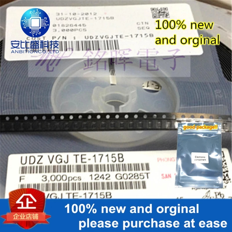 50pcs 100% New And Orgianl UDZV15B 15V SOD-323 In Stock