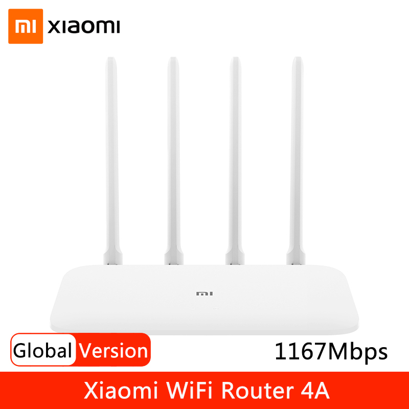 Xiaomi Wifi Router 4A Gigabit 2.4G 5G Dual Frequency 1167Mbps Wireless Router Wifi Repeater Signal Extender 4 High Gain Antennas