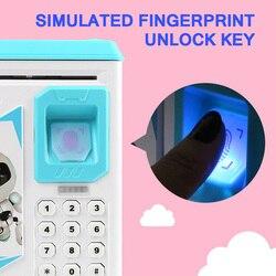 Nowy odcisk palca elektroniczna skarbonka ATM hasło skarbonka gotówka moneta skarbonka dla dzieci urodziny prezent na boże narodzenie