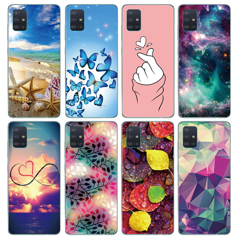 Silicon Phone Case For Samsung Galaxy A51 Soft TPU Transparent Back Cover For Samsung A51 A515 Case 6.5Inch Protect Coque Bumper
