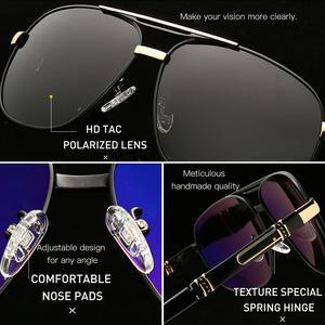 Image 4 - CAPONI 2020 männer Sonnenbrillen Fahren Polarisierte Brillen Marke Vintage Platz Anti Ray UV Schützen Sonnenbrille Für Männer CP0960