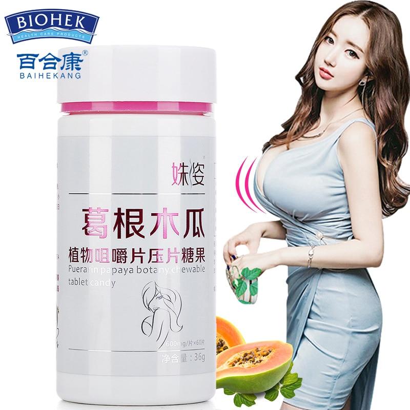 Pueraria Extract Mirifica Papaya Enhance Breasts Enlargement Capsules Brust Enlargement Breast Plumper Plumper Firming And Lifti