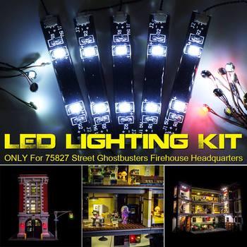 LED Light Lighting Kit for 75827 for Street Ghostbusters Firehouse Building Blocks Bricks Toy (Model Not Included)