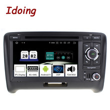 "7 Idoing ""2 din Andriod 9.0 Car Radio Vídeo DVD Player Multimedia Para Audi TT PX5 4G + 64G Oito Núcleo IPS tela do GPS de Navegação(China)"
