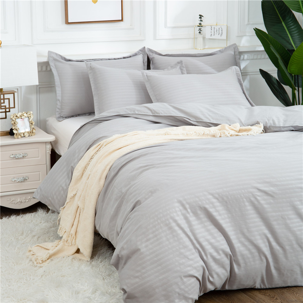 LOVINSUNSHINE Solid Cover Bedding Set Home Textile Stripe Comforter Bed King Queen Size Luxury Duvet Cover For Adults