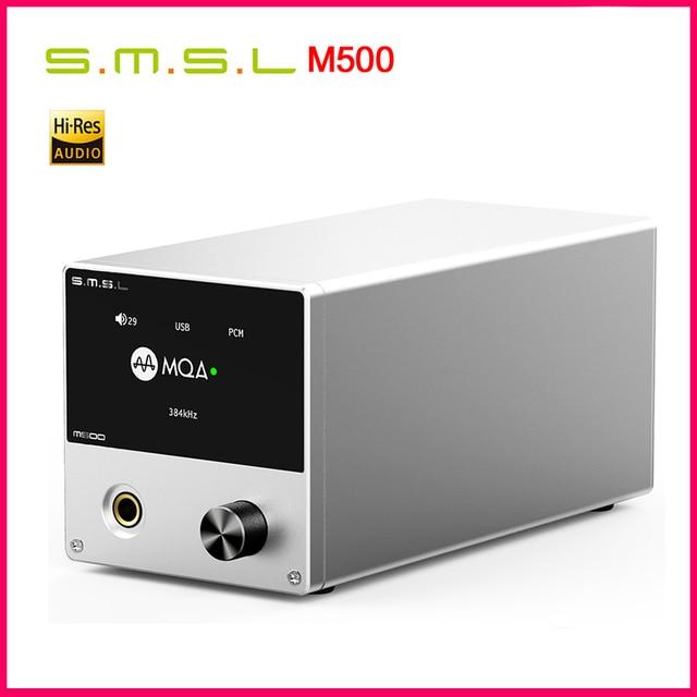 SMSL M500 DAC Headphone AMP MQA ES9038PRO ES9311 XMOS XU 216 32bit 768kHz DSD512 Hi Res Audio DAC Headphone Amplifier