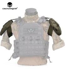 Emersongear tático ombro almofada armadura protetor de ombro bolsa armadura para avs cpc colete acessórios 2pcs exército engrenagem militar