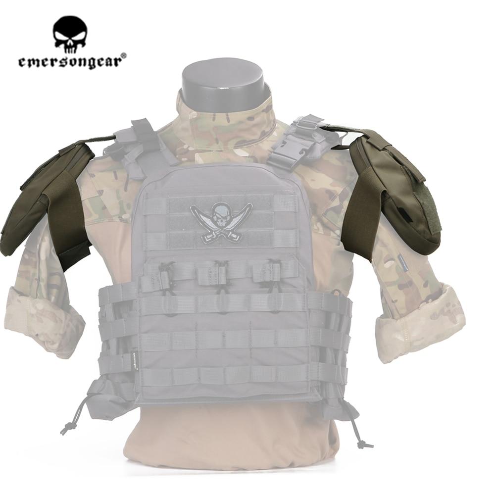 emersongear tatico ombro almofada armadura protetor de ombro bolsa armadura para avs cpc colete acessorios 2pcs