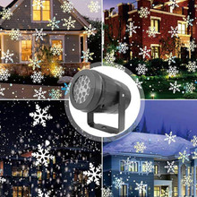 LED Stage Lights LED snowflake light white snowstorm projector Christmas atmosphere holiday