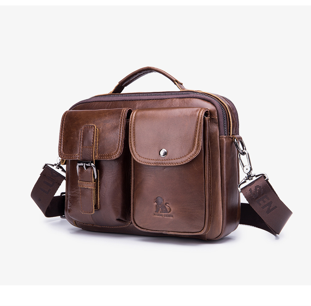 Men/'s Excellent Genuine Leather Backpack Briefcase Messenger Tote Shoulder Bag