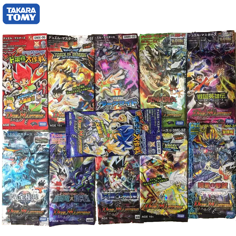 TAKARA TOMY Duel Masters 5PCS/bag Desktop Card Game Cover Flash Card 3D Version Card Collection Gift Kids's Toys Duel Masters
