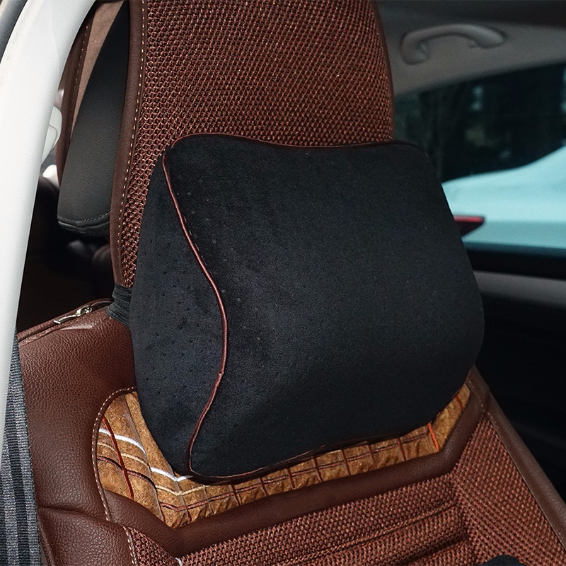 Car Lumbar Cotton Headrest Neck Pillow To Comfort Lower Back Pain 3