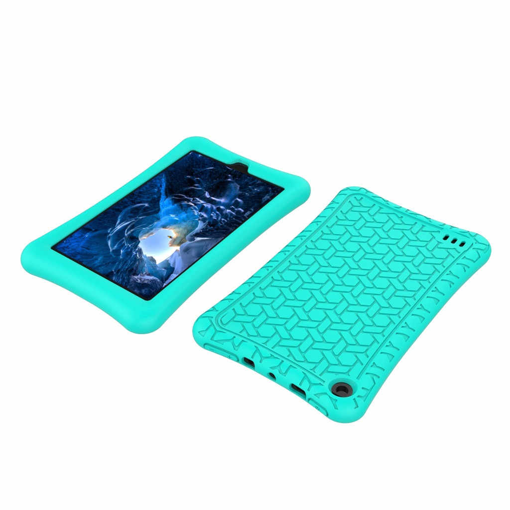 Voor Amazon Kindle Fire HD 7Inch 2019 Case Slim Cover Silicagel E-Book Shell Tabletten Case Beschermhoes E-Book shell met Rot