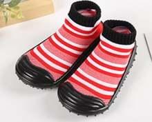 1 пара детские Нескользящие ботинки в полоску с резиновой подошвой