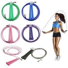 Corde à sauter simple corde à sauter réglable câble de vitesse corde à sauter fil 5 couleurs en option métal boxe/salle de sport