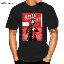 Camiseta De La Casa De Papel para hombre, camisa De manga corta De algodón, 100%, Bella Ciao, De verano