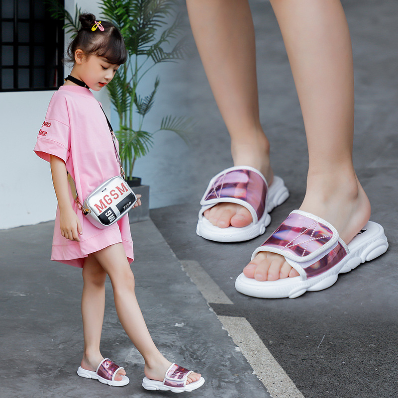 2Colors Girls Slippers 2020 Summer Spring New Princess Sandals Kids Shoes Soft Bottom Non-slip Fashion  Baby Girl Slippers