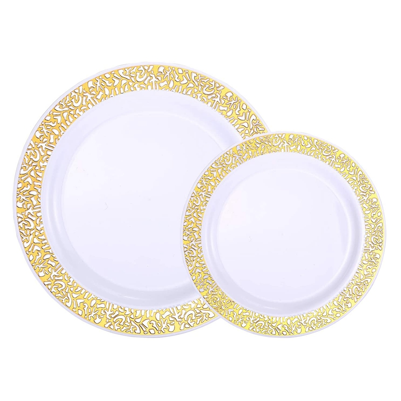 bloco 25 das placas da salada sobremesa das placas do laço do ouro