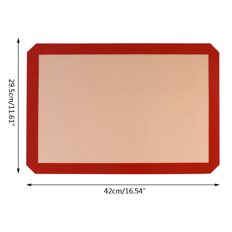 High-temperature silicone baking mat, non-stick baking mat, biscuit macaron, perfect baking tray for bread and pastries