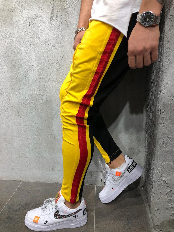 New men's hip hop trousers for men2020 Color matching Hip hop pantsuit sport casual fitness jogger pants.final clear out