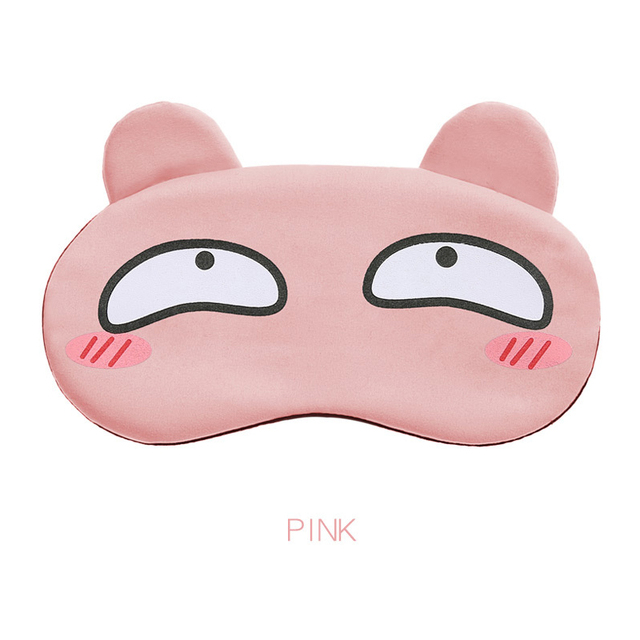 Cotton Cartoon Face Sleep Eye Mask Cute Funny Lovely Eye Cover Sleeping Mask Travel Rest Eye Band Kids Eye shade Patch Blindfold 4