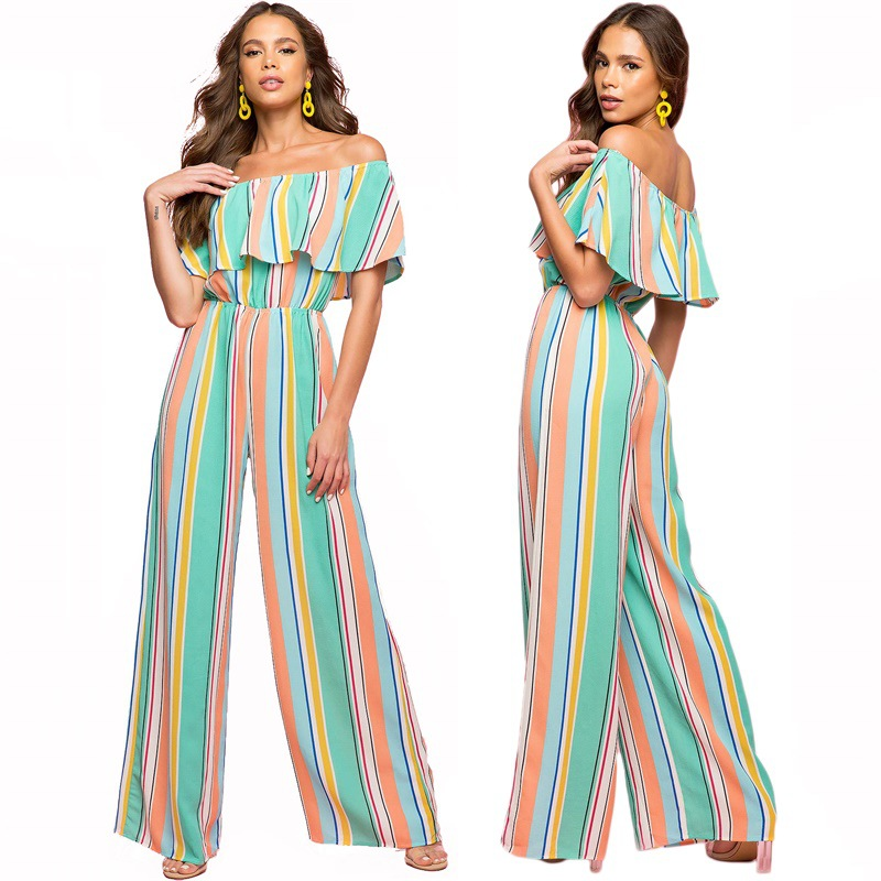 Print Stripes For Women's Jumpsuits Are A Hot New Trend For Fall/winter 2019