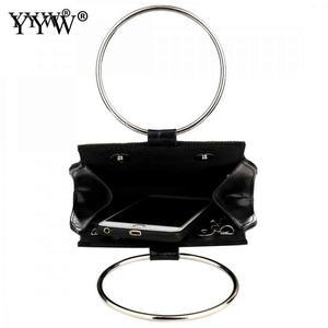 Image 4 - Yyw sacos para as mulheres 2019 moda europeia alça redonda bolsa mini noite saco de embreagem cor ouro casamento tote bolsas garras